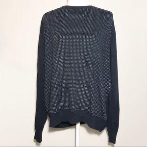 Geoffrey Beene Oversized Navy Knit Sweater